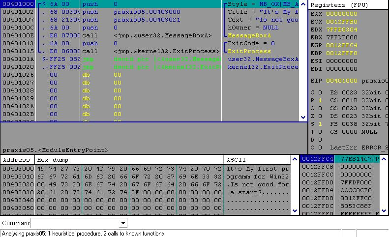 Внешний вид отладчика OllyDbg (png 11,737b).